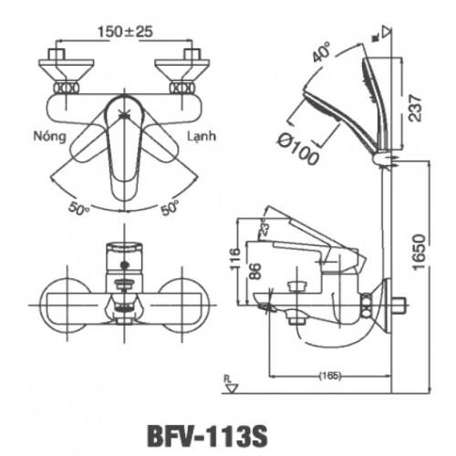 Sen tắm INAX, bộ sen tắm inax BFV-113S