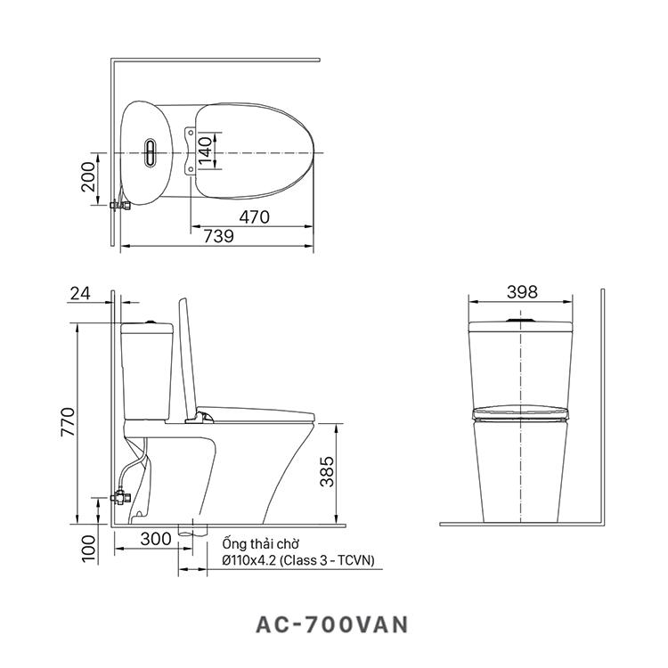 ban ve bon cau inax AC-700VAN
