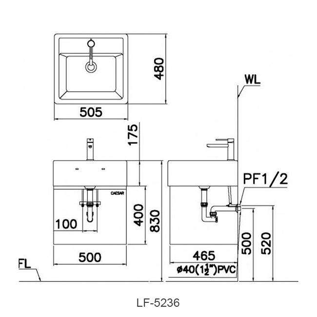 ban ve chau lavabo caesar LF5236