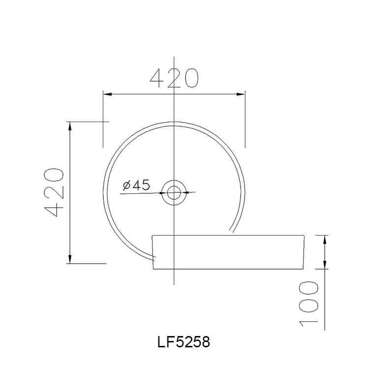 ban ve chau lavabo caesar LF5258