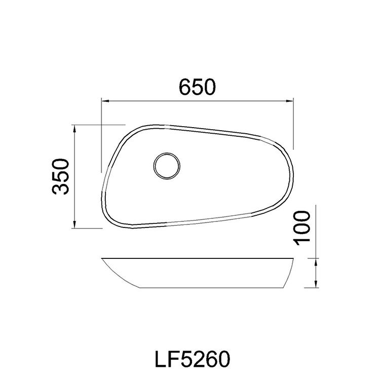 ban ve chau lavabo caesar LF5260