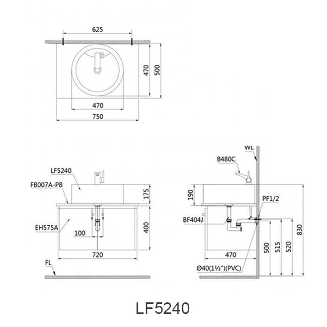 ban ve chau lavabo caesar LF5240
