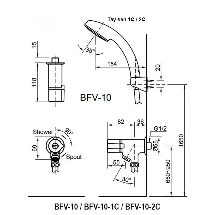 ban ve sen tam inax BFV-10