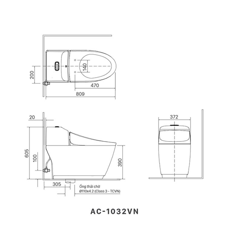 ban ve bon cau inax AC-1032VN