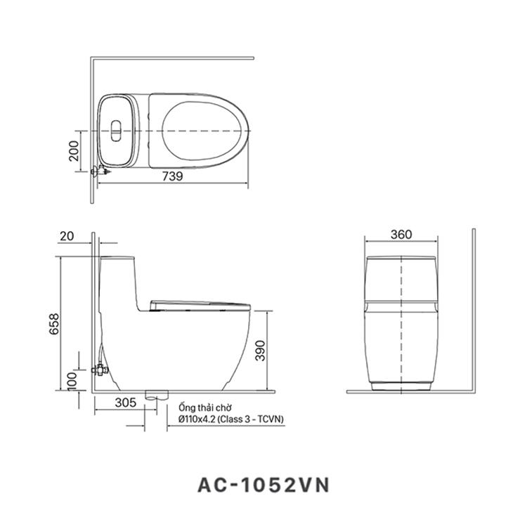ban ve bon cau inax AC-1052VN