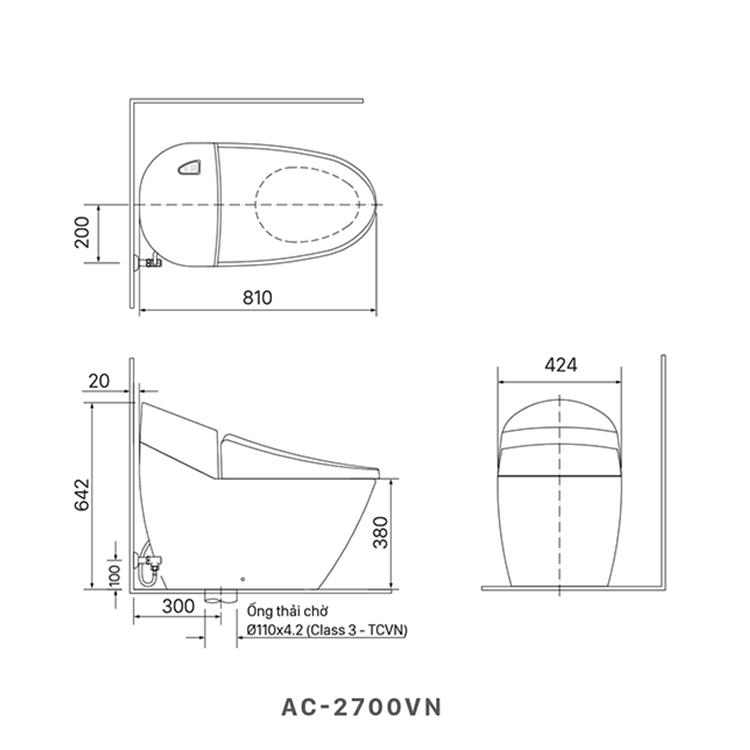 ban ve bon cau inax AC-2700VN