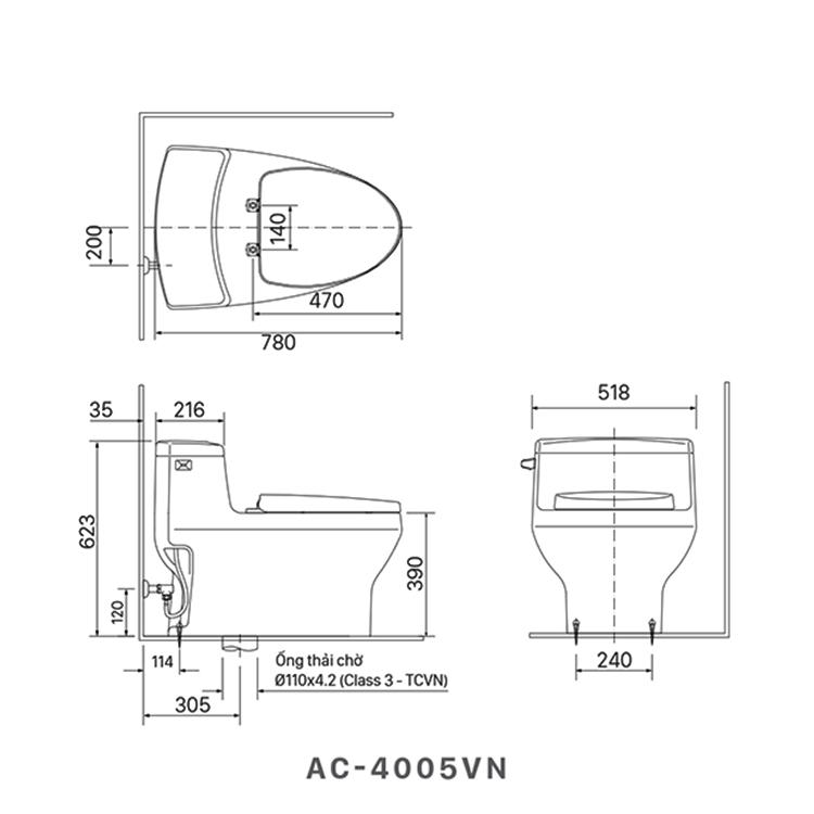 ban ve bon cau inax AC-4005VN