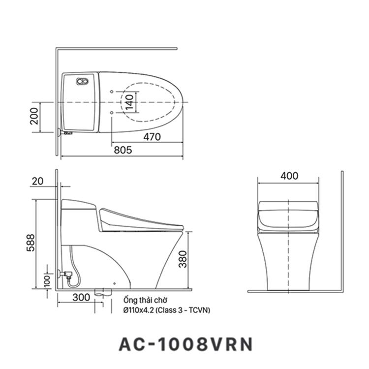 ban ve bon cau inax AC-1008VRN