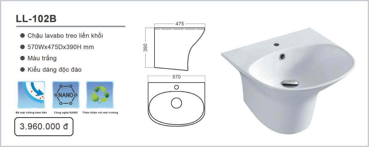 chau lavabo luxta ll-102b