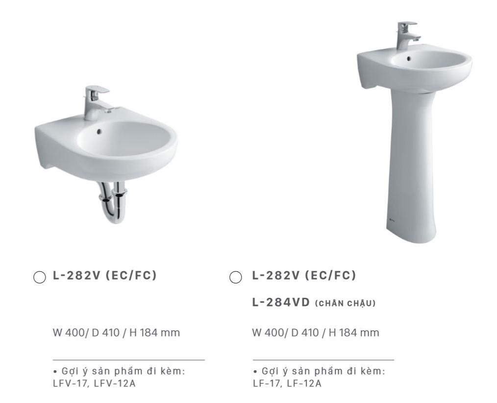 lavabo inax treo tuong