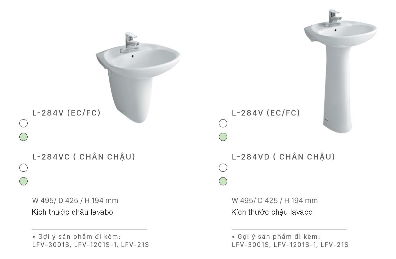 lavabo treo tuong inax