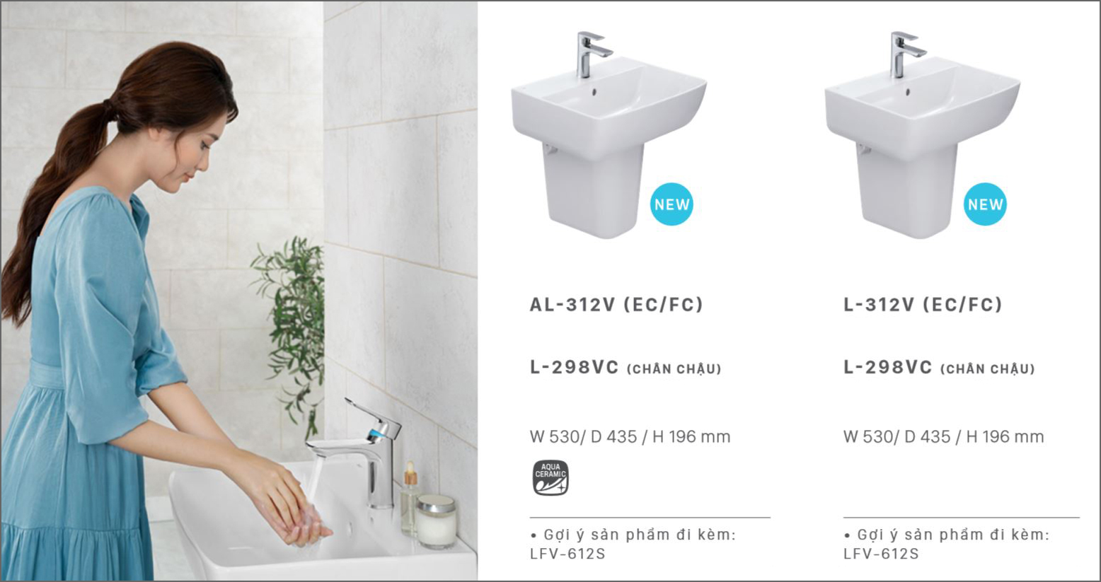 lavabo treo tuong inax l312v